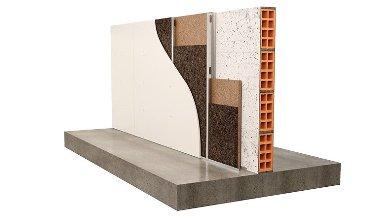 Изоляция стены из металлической стойки поверх кирпича c
